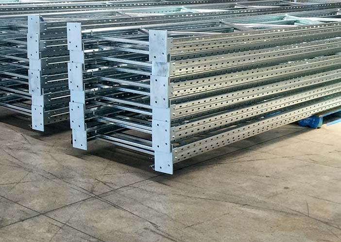 Galvanised pallet racking in warehouse
