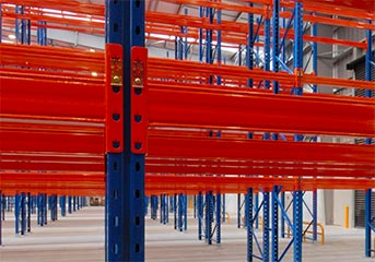Pallet racking at Sorted Logistics, Christchurch