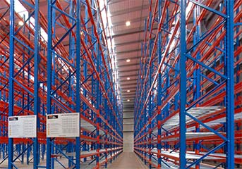 Pallet Racking frames at Sorted Logistics