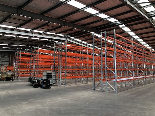Palfinger warehouse racking