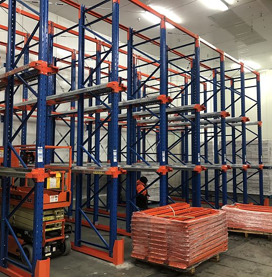 Meat processors racking system