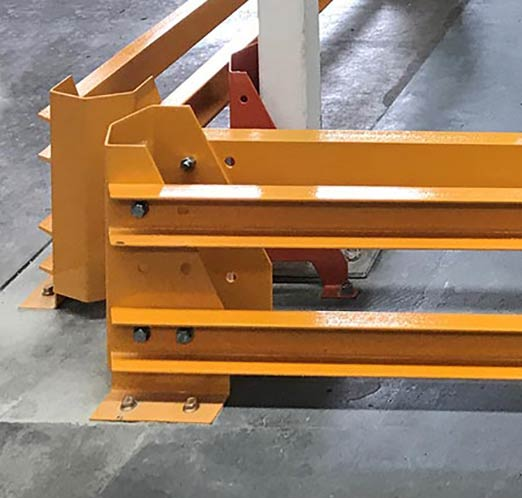Forklift Barrier Corner Detail