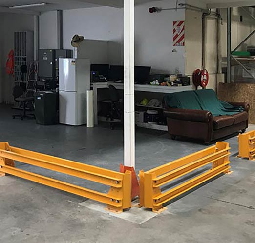 Forklift Barrier In Warehouse