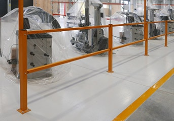 Pedestrian Safety Barriers In Warehouse
