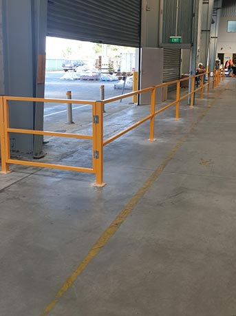 Pedestrian Safety Barrier With Gate