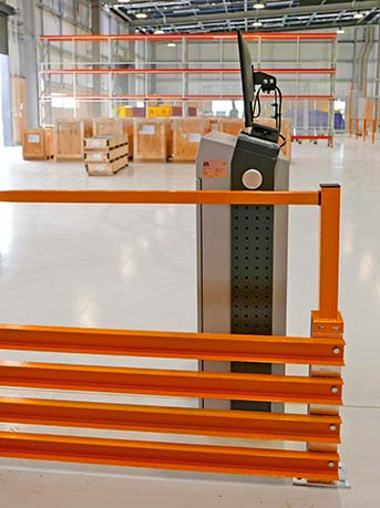 Pedestrian Safety Barrier Walkway pallet racking solutions