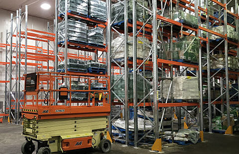 Leader pallet racking installation freezer