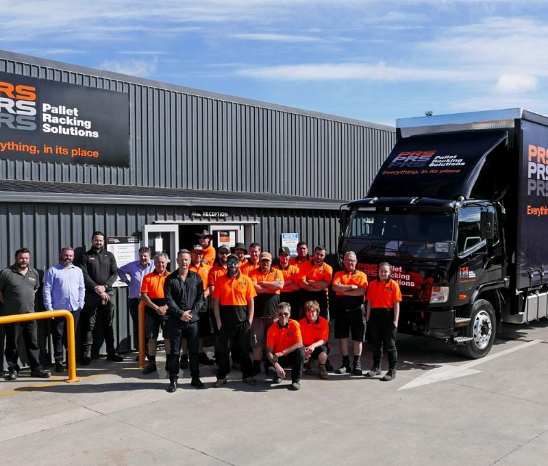 PRS truck and crew at Pukekohe